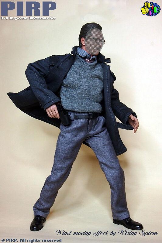 Inspector Pirp 1 6 ropa traje de 2.0 para Hot Juguetes TTM21 Cuerpo De Hombro Estrecho
