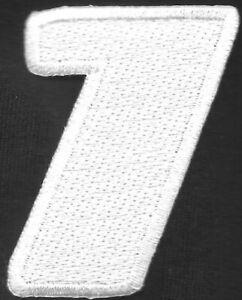 """2 """" Pouce Grand Blanc Monogramme Italiques Nombre 1 Patch Brodé"""