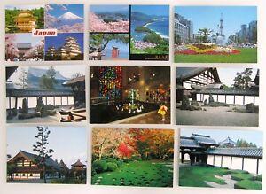 9-x-JAPAN-Postkarte-Nippon-Postcards-Asien-Asia-Ansichtskarten-Lot-ungelaufen