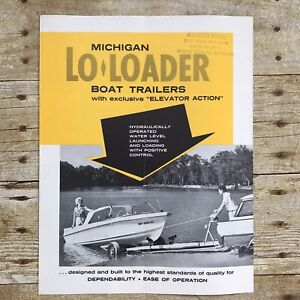 Vintage-Dealer-Sales-Brochure-Michigan-Lo-Loaders-Boat-Trailers-Boating