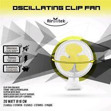 VENTILATORE OSCILLANTE clip 2 velocità fan 2 speed diam 18cm oscillating fan