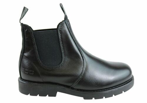 Roc Jumbuk Senior Older Boys//Mens Pull On Leather Boots