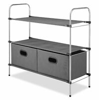 Whitmor Closet Organizer Storage Rack Shelves Collapsible Drawers Clothes Holder on sale