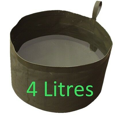 MILITARY 4L COLLAPSIBLE WATER BOWL CAMPING FIELDCRAFT WASH BASIN CAMPING COOKING