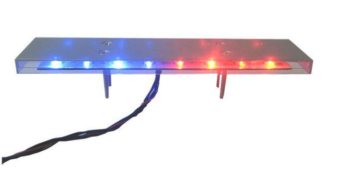 RC 1 10 Scale Police LED LED LED Light Bar kit PLwith headlights and brake lights 573c56