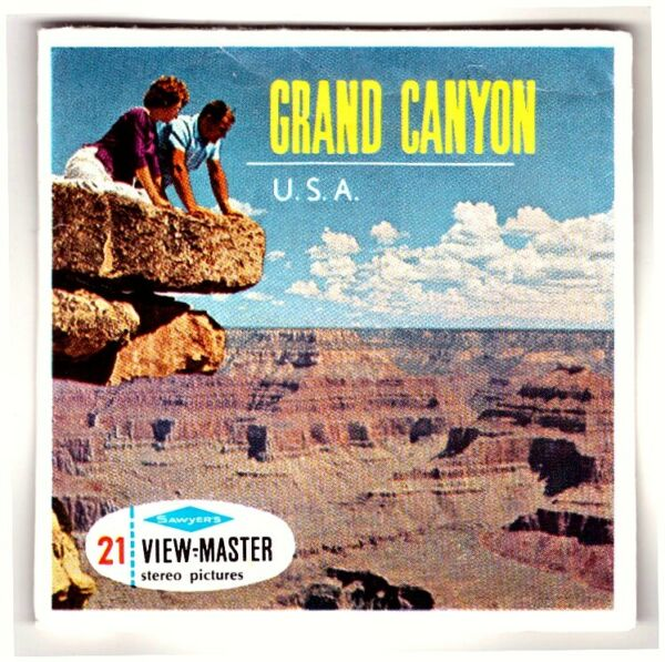 3 View-master 3d Reels????️grand Canyon, West + East Rim Drive,national Park,a 361