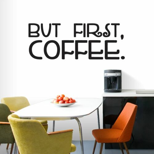 But First Coffee Wall Decal Kitchen Wall Decor Sticker Wall Accent Office