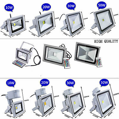 On Sale 10W 20W 30W 50W LED RGB PIR Flood Spot Light Outdoor Garden Lamp