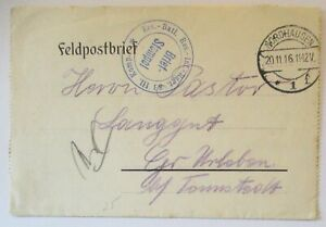 Army-Postal-Service-1916-From-Nordhausen-Rir-83-An-Pastor-Langgut-IN-UK-Urleben