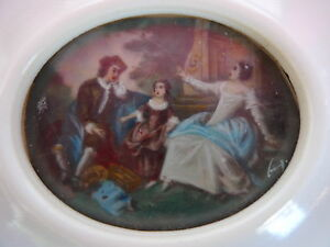 Beautiful, old Miniature__Baroque Society Painting____