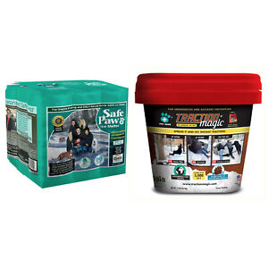 Safe Paw Ice Melt, 22 Pound and Traction Magic Snow Melter, 15 Pound Bucket