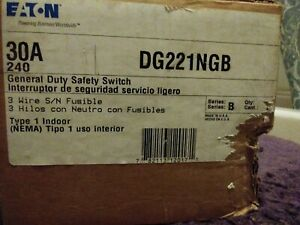 Eaton DG221NGB General Duty Safety Switch 30 Amp 240v Single Phase for sale online