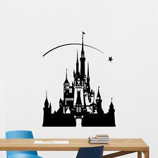 Disney Castle Wall Decal Fairy Cartoon Vinyl Sticker Nursery Decor Poster 199zzz