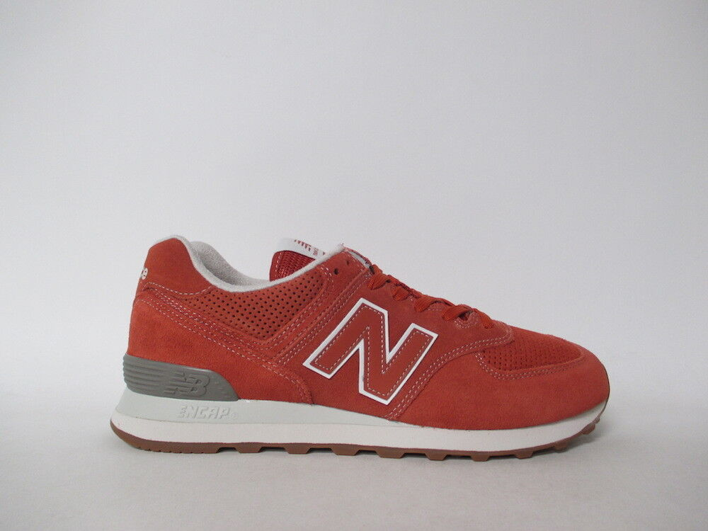 New Balance 574 Rust White Grey Gum Vintage Russett Sz 12 ML574ESH