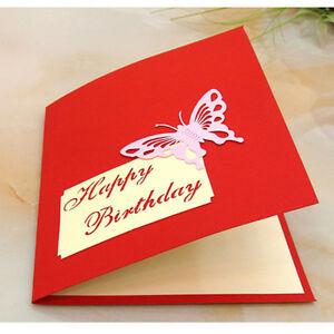 Image Is Loading New 1PCS 3D Pop Up Greeting Cards Handmade