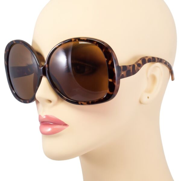 f5071dd125e Huge Extra Oversized Large Womens Retro Vintage Style Round Sunglasses Black  S