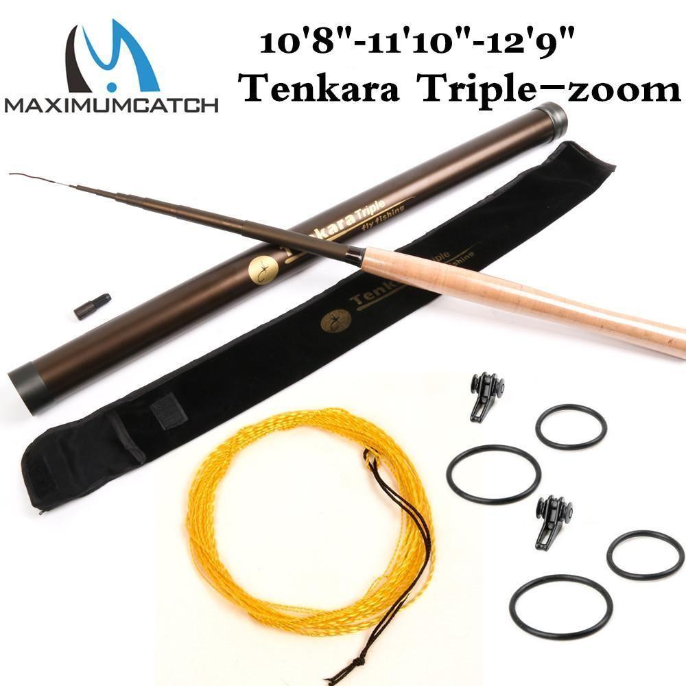 Fliegen Rod Triple zoom Rod (10'8 , 11'10 , 12'9 ) & Line Tenkara Telescoping Fliegen Fi