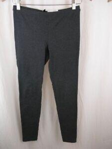 4089697cdde755 HUE Women's Leggings S Gray Basic Cotton EDV Stretch Full-Length ...