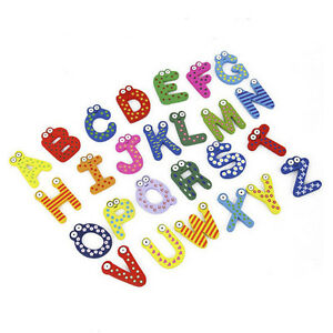 26Pcs-Wooden-Magnetic-Alphabets-Letters-Fridge-Magnets-Decals-Sticker-Baby-Toy