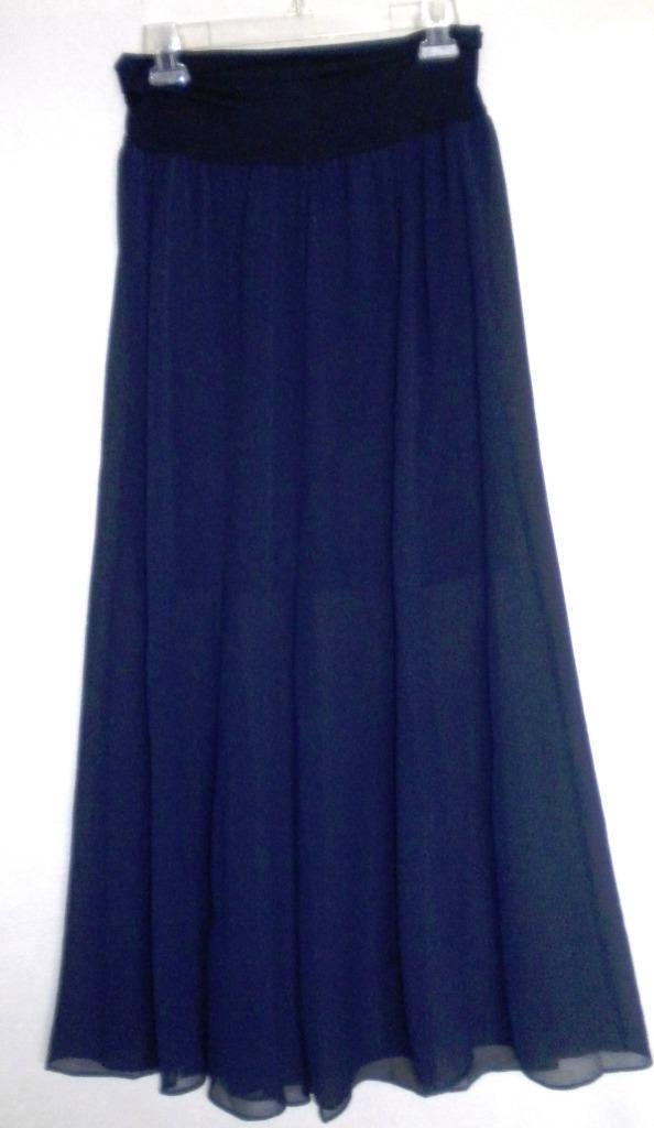 VINCE CAMUTO bluee Night Maxi Skirt Over Mini Skirt XS NWT Womans ()