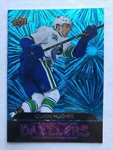 20-21 UD Series 1 Hockey Dazzlers DZ-44 Quinn Hughes Blue Insert SP