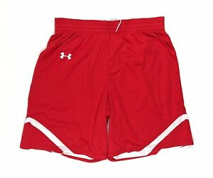Under Armour mens Undeniable reversible  Basketball Shorts  Red White 2xl