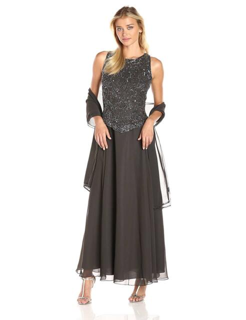 Beaded Sleeveless Evening Dress Gown