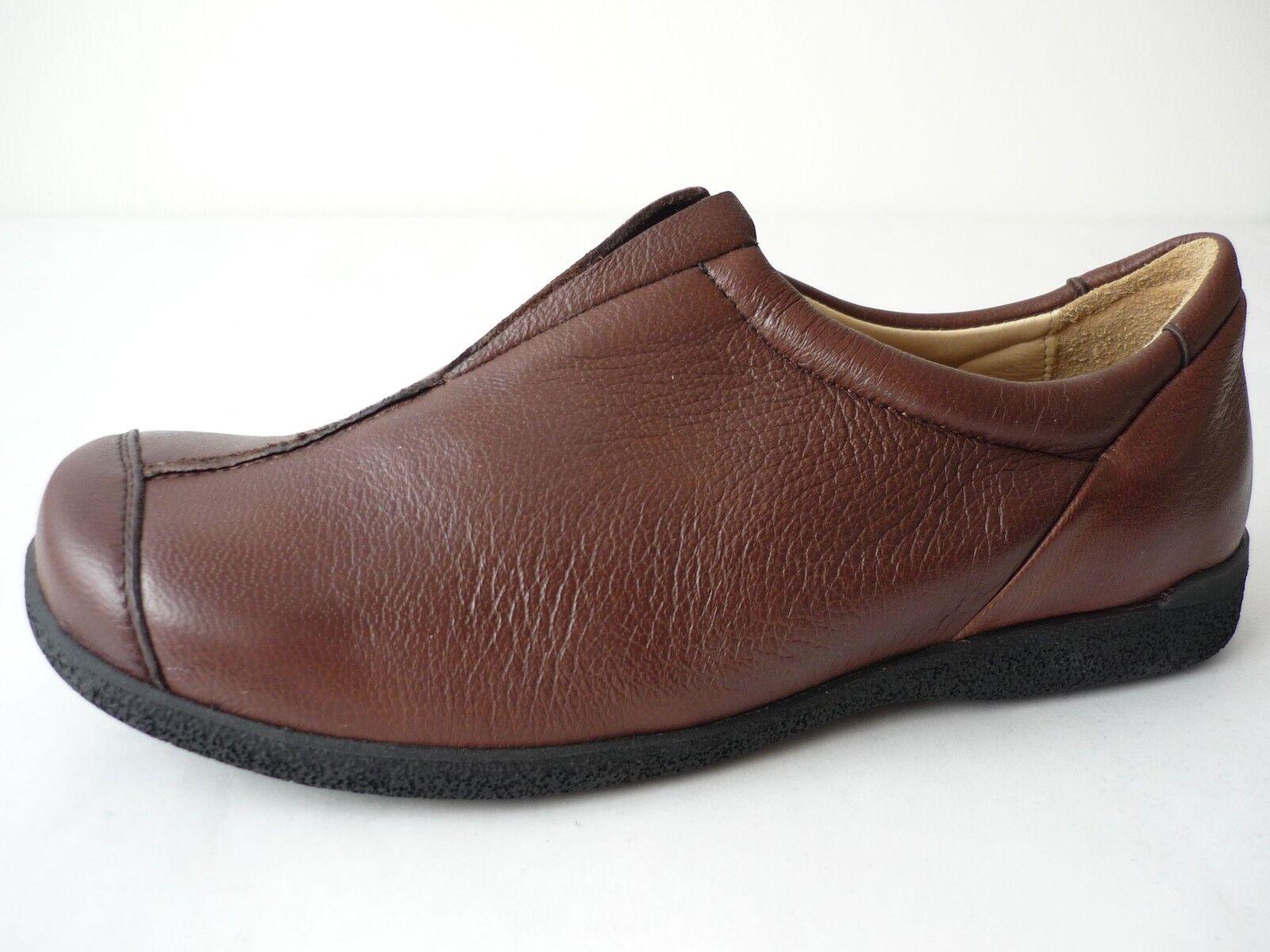 HIGHLANDER DAMEN HALBSCHUHE 37,5 38,5 SCHUHE brown LEDER SHOES FOR WOMAN NEU