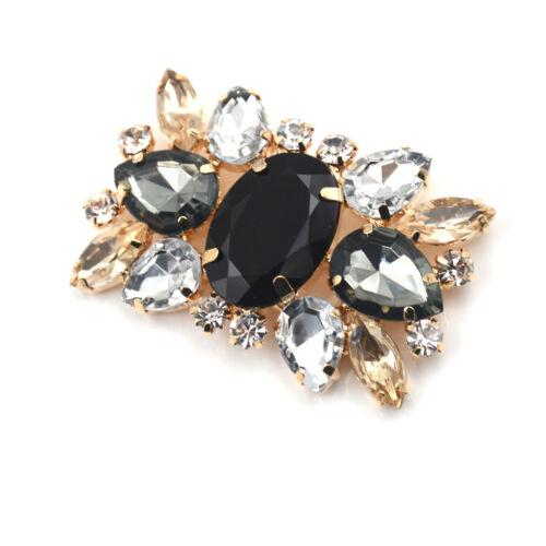 1PC Alloy Shoes Clips Rhinestone Crystal Flower Buckle Bridal Wedding Decor D/'UK