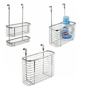 Image Is Loading Chrome Basket Caddy Hook Over Door Hanging Storage