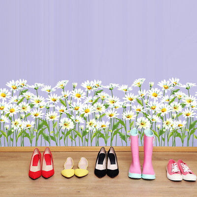 Grass Baseboard Stickers Flower Children Small Daisy Pvc Removable Weed Stickers