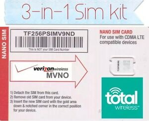 total wireless 4glte universal 3 in 1 sim card kit cell. Black Bedroom Furniture Sets. Home Design Ideas