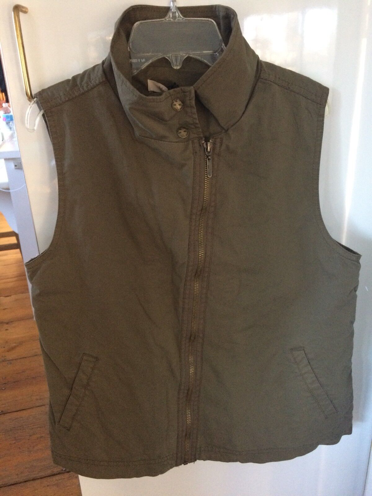 Women's Max Jeans Lined Winter Vest Olive Green Size Medium NWT