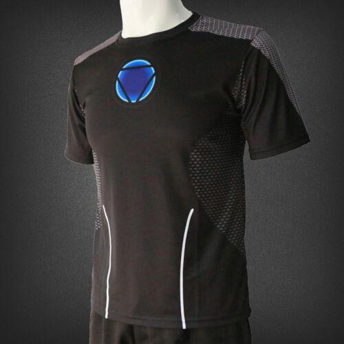 Men Marvel Avengers Iron Man T-Shirt Superhero 3D Short Sleeve T-Shirts Cool