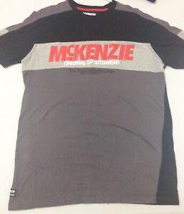 Bloque-de-color-gris-para-hombre-McKenzie-Camiseta-Top-tamano-mediano-Ex-Display-BNWOT