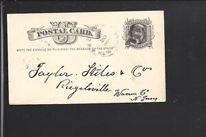 ROSLYN-NEW-YORK-1880-GOVERNMENT-POSTAL-CARD-FANCY-CL-NASSAU-CO-1844-OP