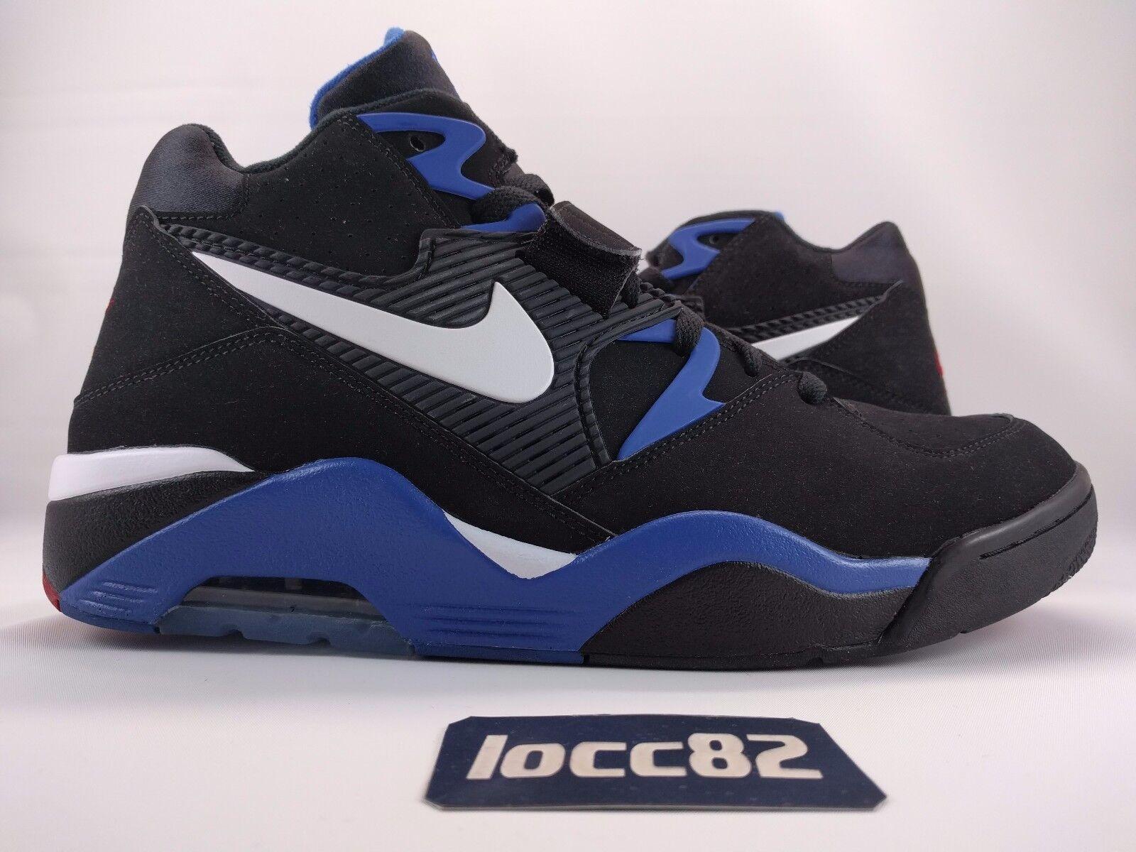 Nike air force 180 uomini retrò bc barkley nero bianco e blu (310095-011 sz)