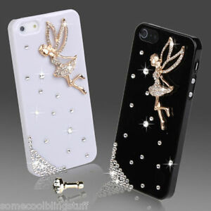 best service 715ec 81025 Details about BLING DESIGNER DELUX DIAMANTE STYLISH TINKERBELL ANGEL CASE  COVER IPHONE 6+ PLUS