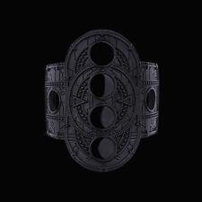 Pulsera Negro Restyle Hueco Luna. temática Gótico Joyería. oculta de la Luna. Luna.