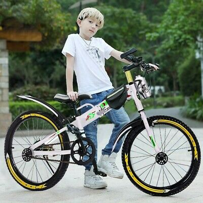 New 20in Youth Mountain BMX Style Frame Kids Cycling Bikes With Water Bottle Bag
