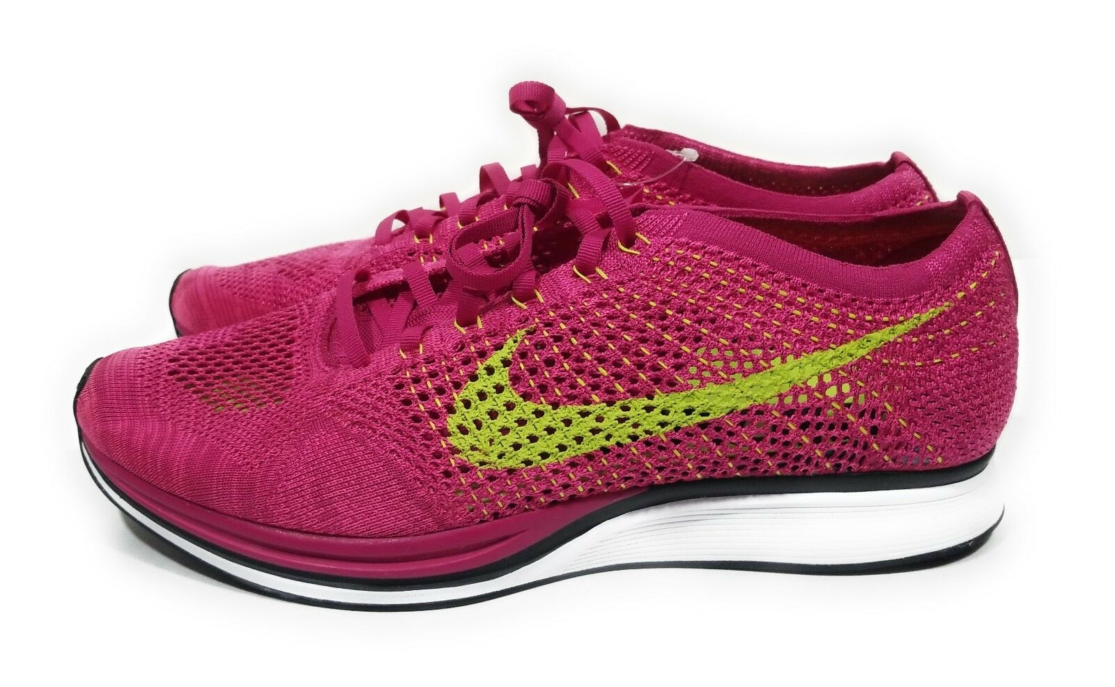 Nike Flyknit Racer Mens Running shoes Pink Volt Size 11