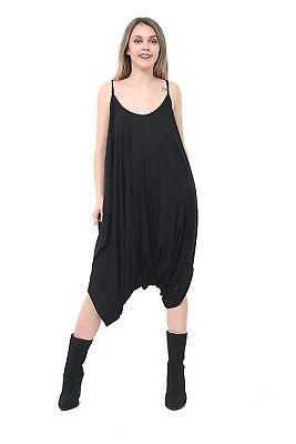 Femme Femmes Cami Jumpsuit Lagenlook Ange Baggy Harem Playsuit taille UK 8-26