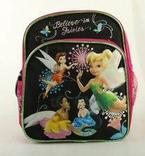 "Mini Backpack - Disney - Tinkerbell - Group 10"" Girls Kids New School Book Bag"