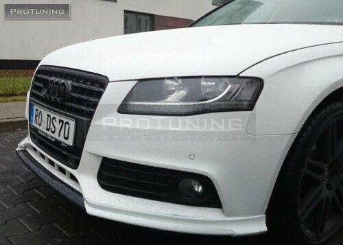 Front Bumper S Line Valance Chin Spoiler Lip For Audi A4 B8