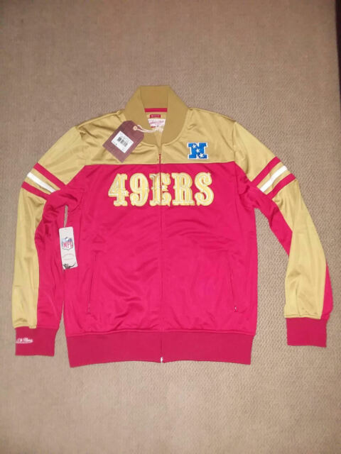 434e4c923 SAN FRANCISCO 49ERS Mitchell Ness TRACK JACKET zip up NEW $145 SZ L LARGE
