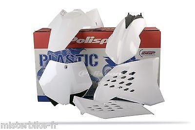 Kit plastiques Polisport  Couleur Blanc KTM SX-F 250 450 Année 2007-2010