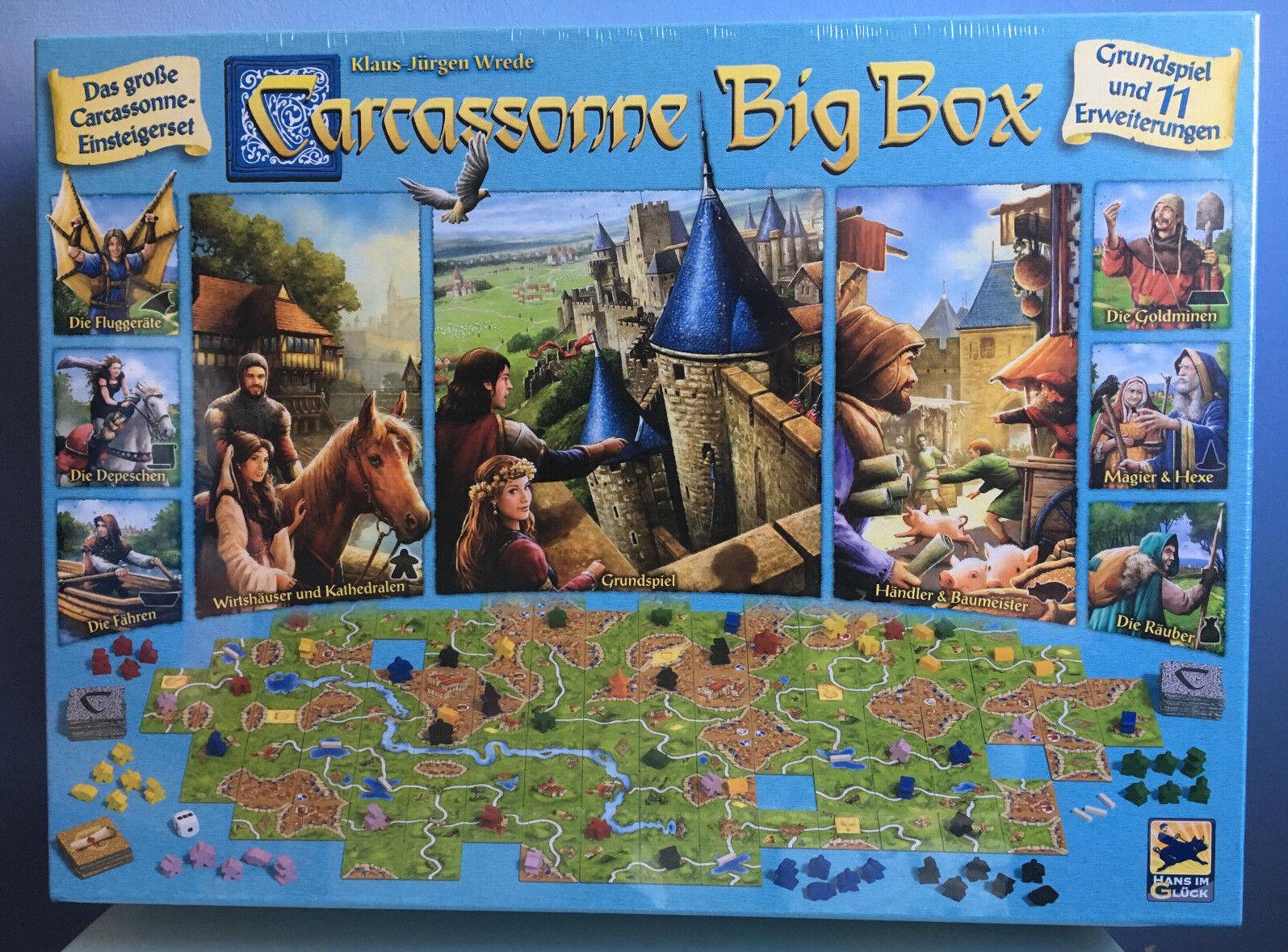 Carcassonne BIG BOX 2017, con Nuovo di Zecca inglese regole