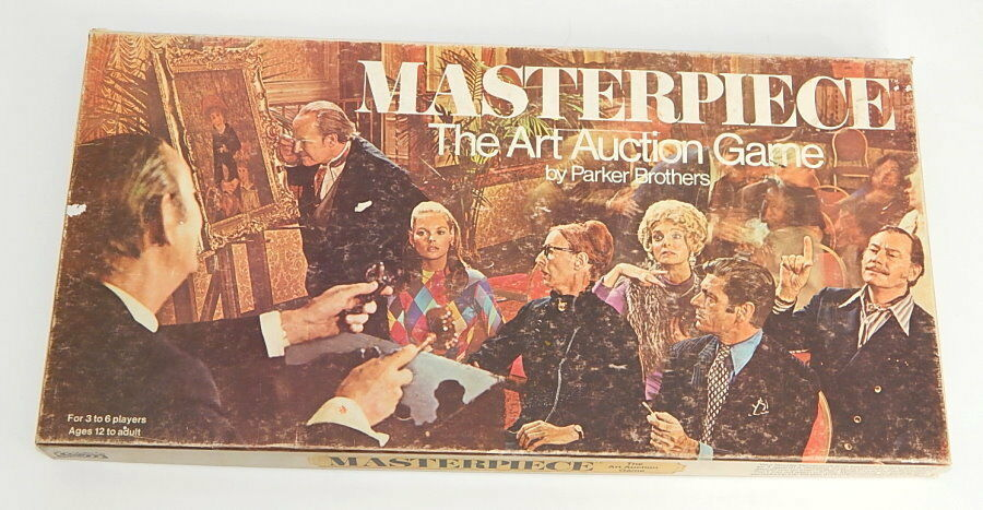 Jahrgang 1970 parker brothers meisterwerk kunstauktion brettspiel komplett r8549