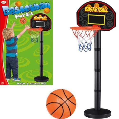 KIDS FREE STANDING BASKETBALL NET HOOP BACKBOARD /&BALL PLAYSET ACTIVITY GAME SET