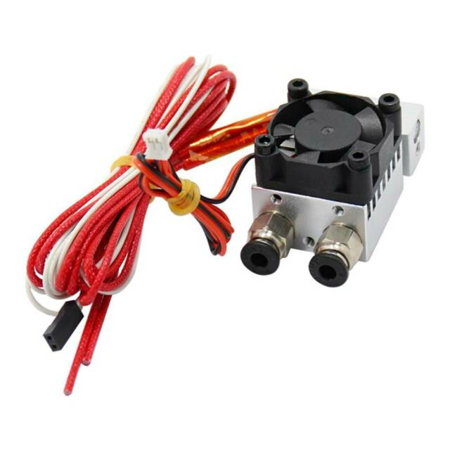 Chic Metal 2 in 1 out Extruder Head J-head Dual Drive Extruder 3D Printer Part